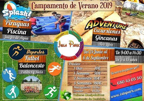 Campamento de Verano 2019 en Isla Park