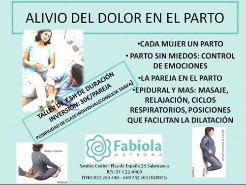 """Taller """"Alivia el dolor en el parto"""" con Fabiola Matrona"""