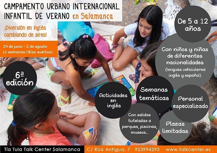 Campamento Urbano Internacional Infantil de Verano en Salamanca