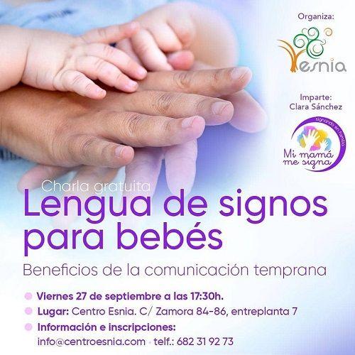 """Charla gratuita """"Lenguaje de signos para bebés"""" en Centro Esnia"""