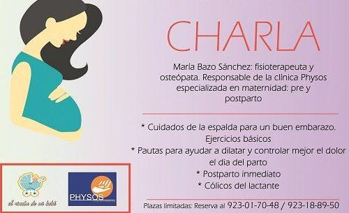 Charla de María Bazo en El Rincón de mi bebé