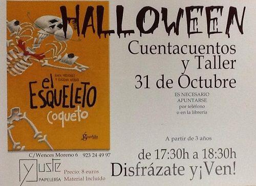 Cuentacuentos y taller de Halloween en librería Yuste