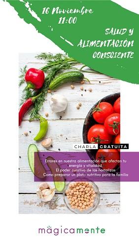 Charla sobre salud y alimentación consciente en MágicaMente