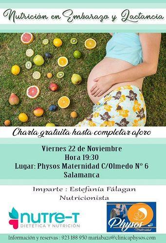 """Charla """"Nutrición en el embarazo y la lactancia"""" en Physos Maternidad"""