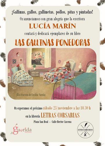 """Cuentacuentos """"Las Gallinas Ponedoras"""" en la librería Letreas Corsarias actividad del I Salón del Libro Infantil y Juvenil de Salamanca"""