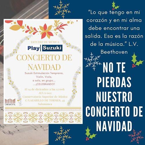 Concierto de Navidad del estudio de música Play Suzuki