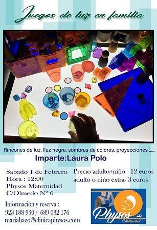 """Taller """"Juegos de luz en familia"""" en Physos Maternidad"""