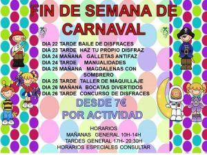 Talleres para los días de Carnaval en Volteretas