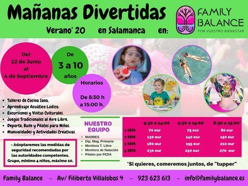 """""""Mañanas divertidas"""" en Family Balance"""