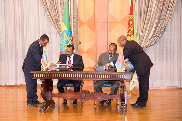 Ethiopia iyo Eritrea oo heshiis lagu xoojinayo kii hore Sucuudiga ku kala saxiixanaya