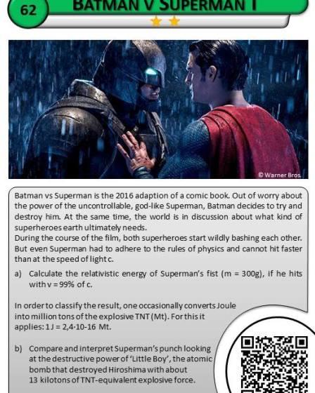 The physics of Batman vs Superman 3