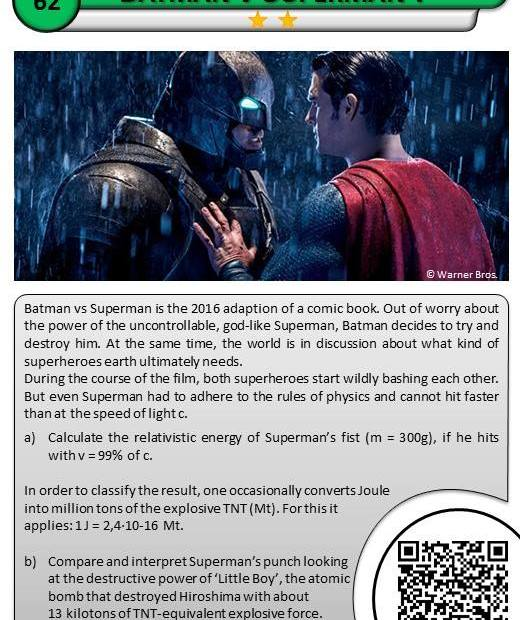 The physics of Batman vs Superman 1