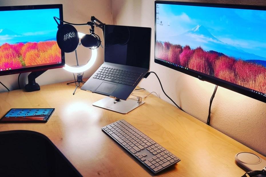 Mein Arbeitsplatz fürs Home Office: Schreibtisch, Monitore, Beleuchtung 10
