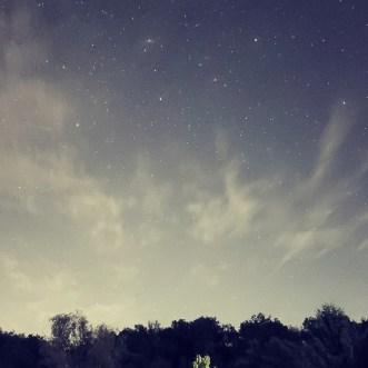 Nachthimmel und Sterne