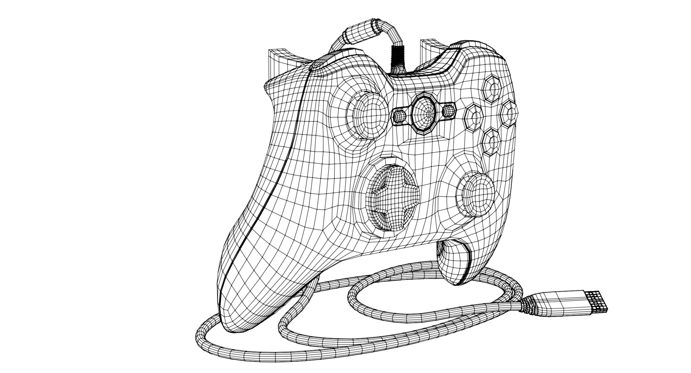 Xbox Controller Wireframe Halcyon Animation