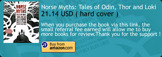 Norse Myths: Tales of Odin, Thor and Loki Art Book  Amazon Buy Link