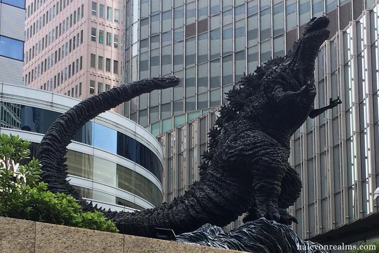 Godzilla Sculpture in Yurakucho, Tokyo.