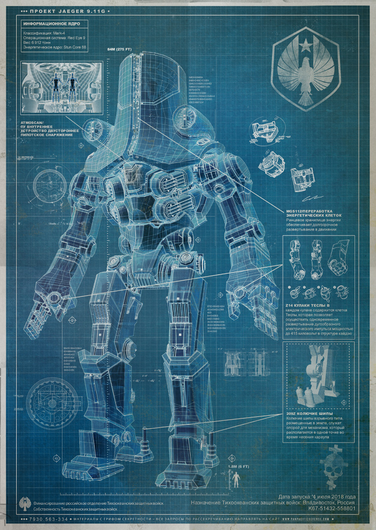 Pacific rim jaeger blueprints ilm is working on the visual effects for the film and i cant divulgego into specifics but get ready for a spectacular visual feast come july next year malvernweather Images