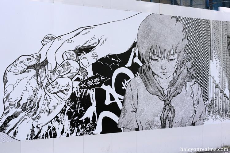 Akira Murals at Shibuya Parco, Tokyo June 2019.