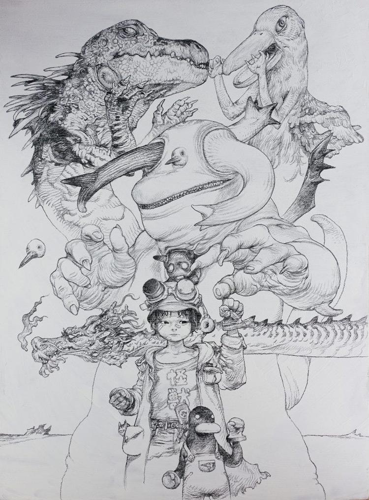 The Monster And The Boy - Katsuya Terada Art Exhibition 寺田克也生個展 えんぴつ2 モンスターと少年