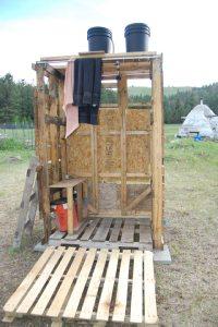 DIY outdoor shower | Montana Animal Farm
