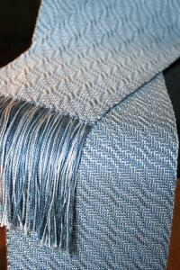 Snow Crystal Shadow Weave Scarf in Gemstone Silk - Pattern ...