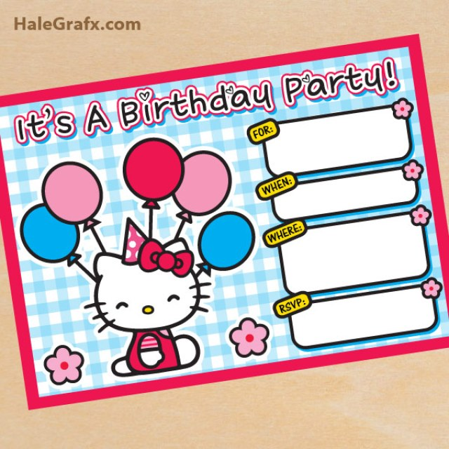 Free Hello Kitty Party Printables Little Wish Parties