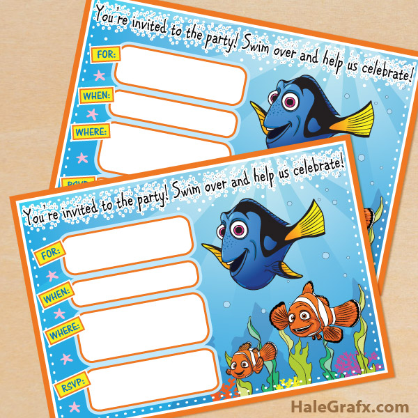 free printable finding nemo birthday