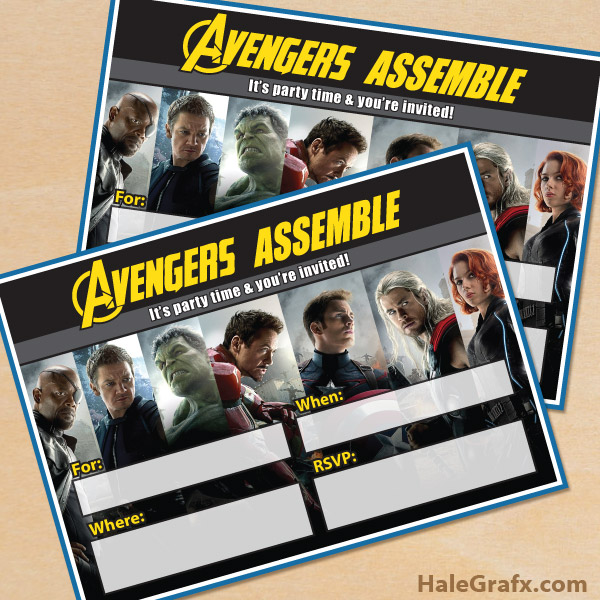 free printable marvel avengers party