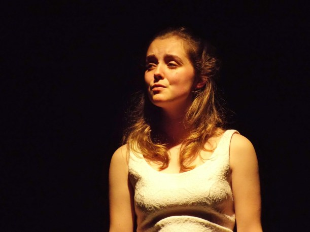 Jemimah Taylor as Anna in 'Yesterday' by Katie Hale and Stephen Hyde at the Burton Taylor Studio, Oxford, June 2015