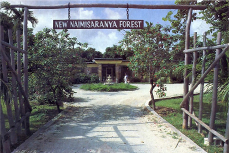 Each week hundreds of guests come through the entrance way – New Naimisaranya Forest gets its name from a pilgrimage site in India.