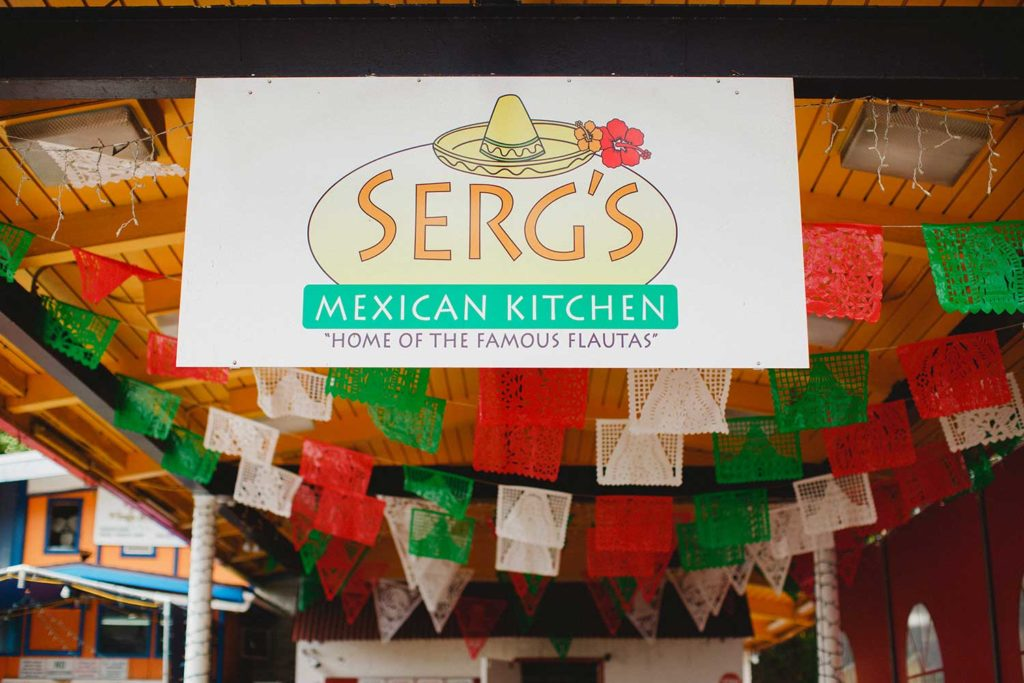 Serg's Mexican Kitchen restaurant sign