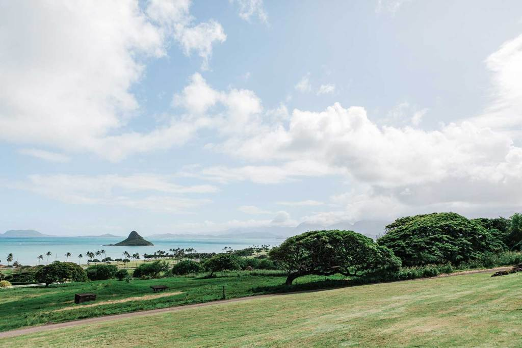 Scenic view of Kualoa Ranch