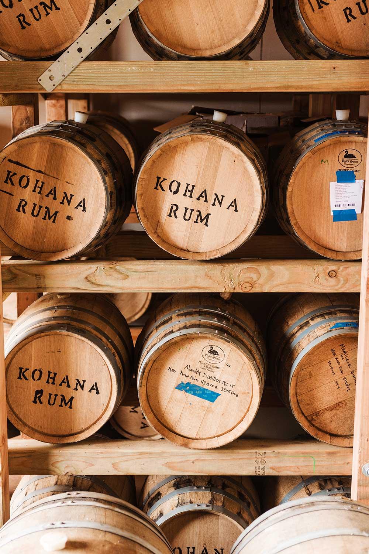 Barrels of Kohana Rum