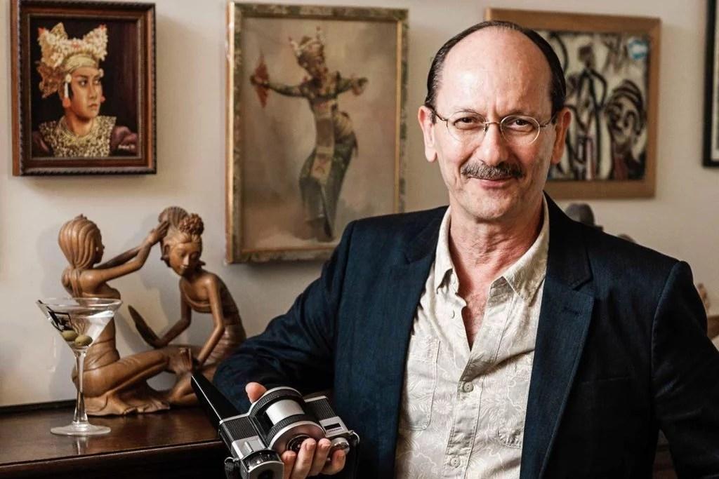Omer Kursat holding camera