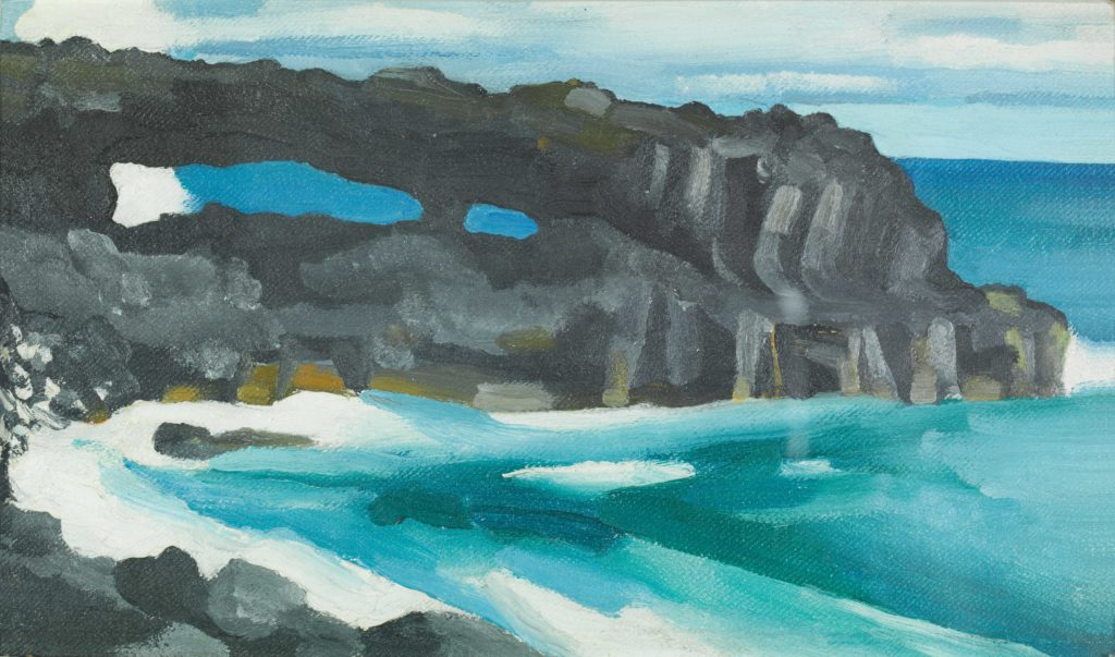 Georgia O'Keeffe (American, 1887-1986). Black Lava Bridge, Hana Coast No. 2, 1939