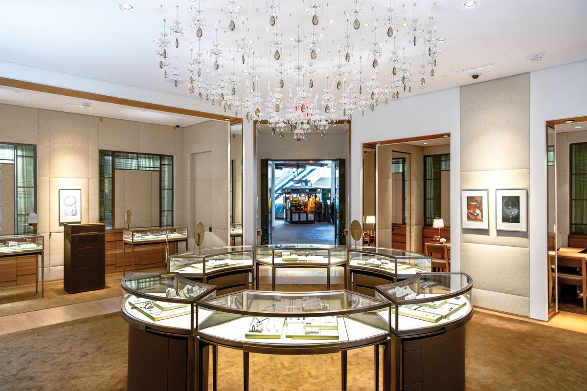 Cartier display showroom