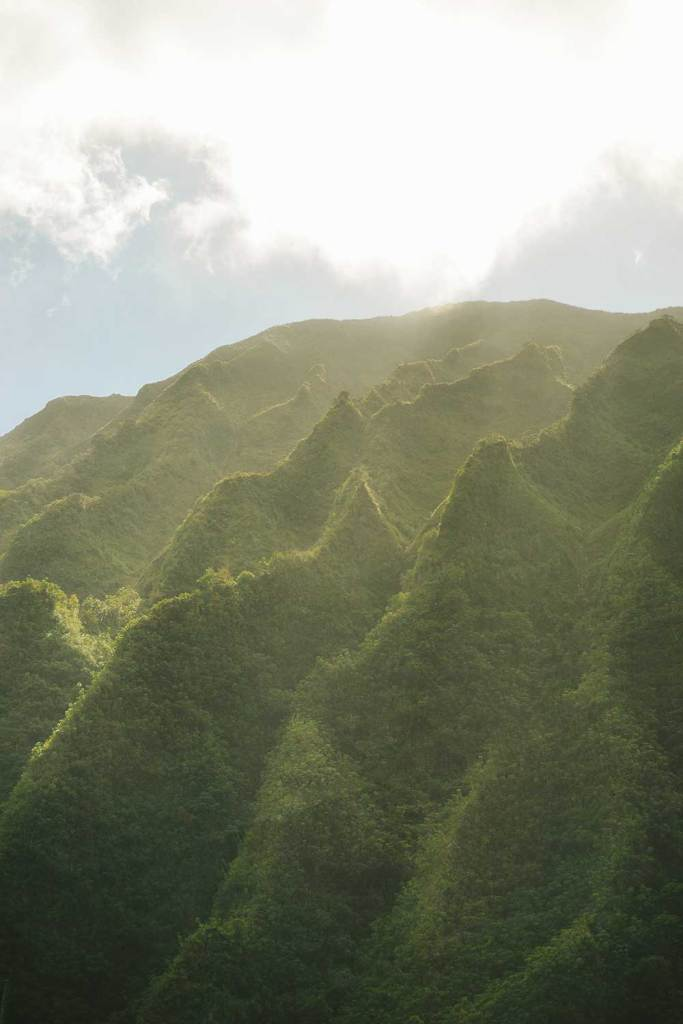 Green mountains of Oahu