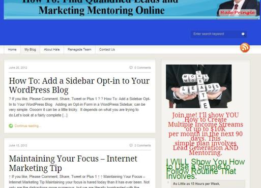 Blog Page First