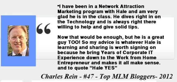 Charles Rein- Testimony
