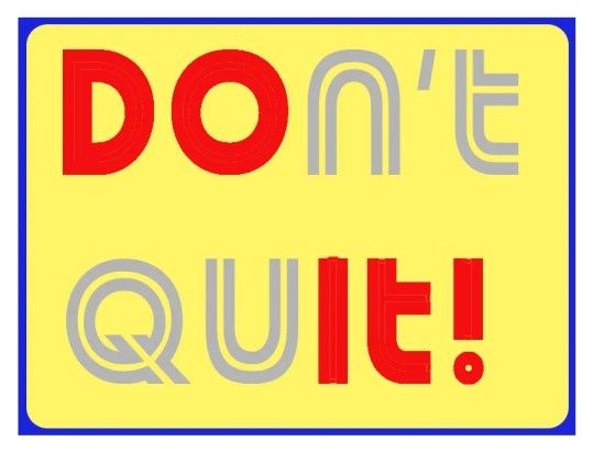 Dont Quit  - Just Do It!