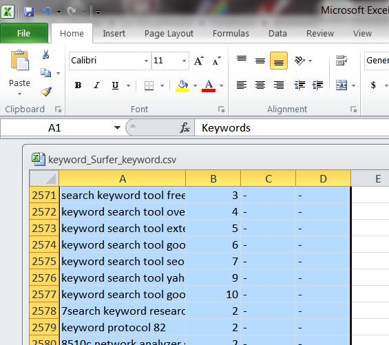 Excel-Ctrl-A