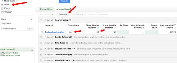 find keywords for your blog