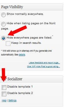 Hide Squeeze Pages and turn off the title display