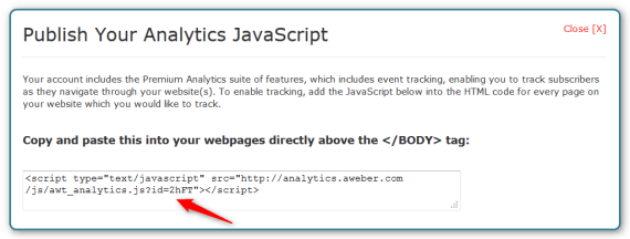WordPress and AWeber Integration - Find ID in Javascript