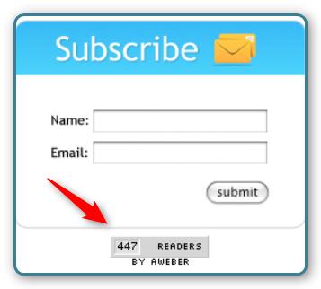 WordPress and AWeber - Subscriber Counter