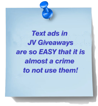 Text Ads in JV Giveaways - VERY Easy