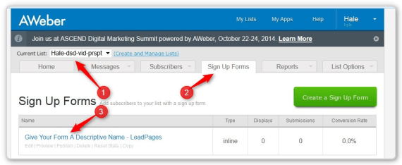 List Building With LeadPages -Edit Existing Sign Up Form