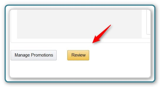 Promotion Code - Display the Review Page