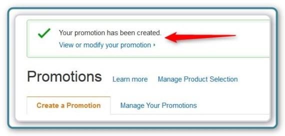 Promotion Code -  Success!